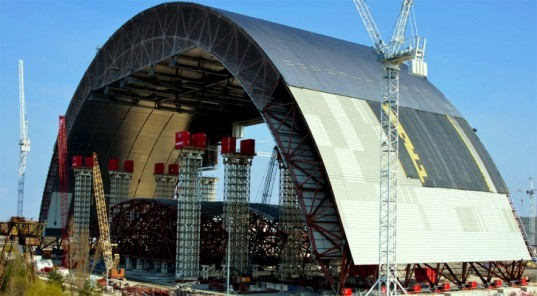 New Safe Confinement, New Safe Confinement Chernobyl, Chernobyl shield, Chernobyl radiation protection, Chernobyl protective shield, Chernobyl Reactor 4, nuclear disasters, nuclear accidents, environmental destruction, Chernobyl Sarcophagus