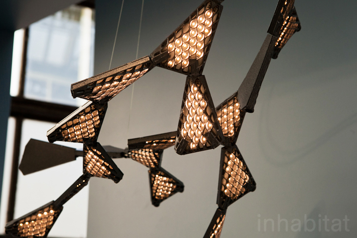 Futuristic Led Dragon Chandelier Lights Up With A