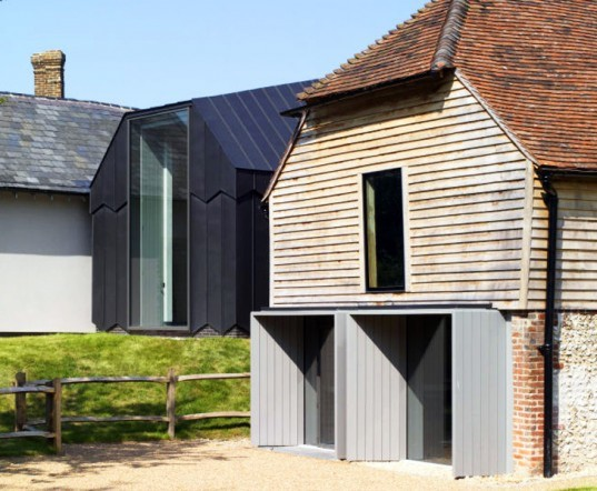 Adam Richards Architects, Architecture, Art, Green renovation, WAN Adaptive Reuse Awards, Ditchling Museum of Art + Craft, chapel-like extension,clad in zinc, symmetric architecture