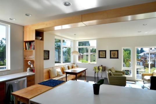 Family Share Residence, b9 Architects, auxiliary dwelling unit, seattle, reclaimed lumber, green home, eco home