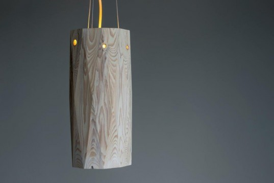 Hollow Lamp: Salvaged Wood Pendant Shines a Light on Forestry Devastation