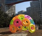 Artist Virginia Melnyk Builds Summer Igloo Out of Inflatable Pool Toys for 2014 Beijing C!HERE Art Crawl