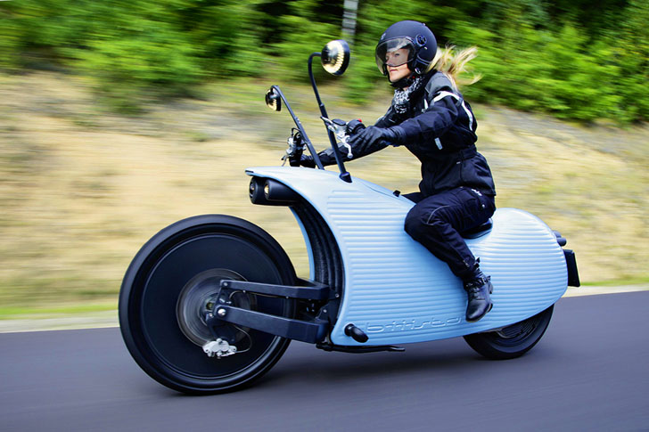 Johammer J1 Retro Futuristic Electric Motorcycle Can Travel Over 125 Miles On A Charge