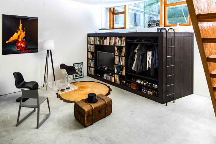 Design. Living Cube  Multi Functional Furnishing Provides a  Home in a Box