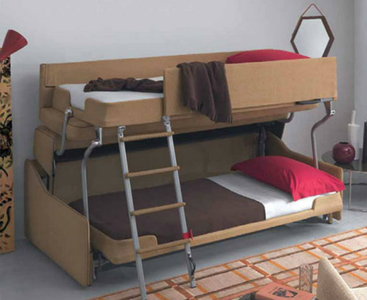 Crazy Transforming Sofa Goes From Couch To Adult Size Bunk Beds In Less Than A Minute