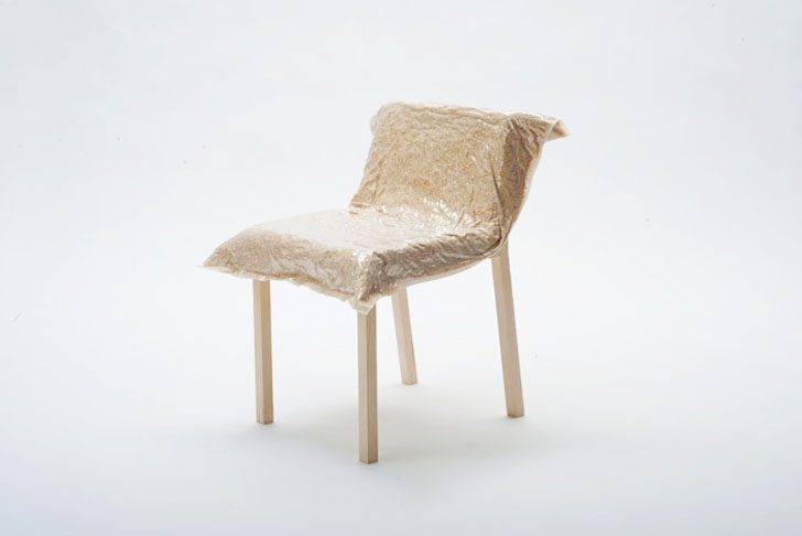 Sawdust furniture Upcycling Ecovative Design Johanna Riedls Saw Dust Chair Is Made From Its Own Waste
