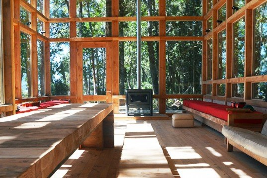 Squella Arquitectos, Chile, the House at Rupanco Lake, native forest, glazed home, home in the woods, transparent architecture, architecture, green materials