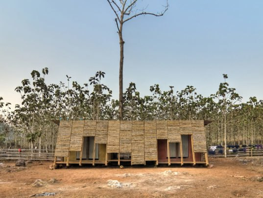 TYIN Tegnestue's Bamboo Bathhouse Brings Cleanliness to an Orphanage
