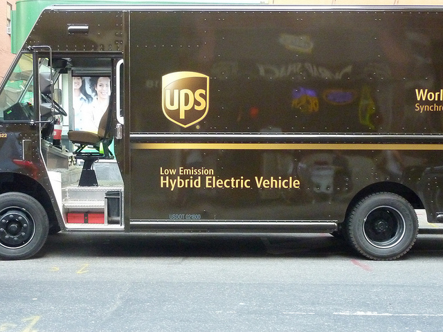 Ups Parcel Delivery Service Trucks Brown Truck Logistics
