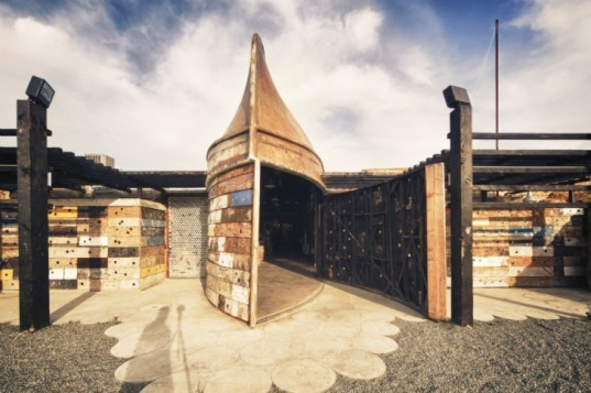 Underground organic vena cava winery is built with for Salvaged building materials los angeles