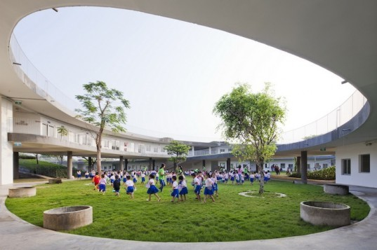 kindergarten, green roof, farming kindergarten, vietnam, dongnai, Vo Trong Nghia Architects, sustainable architecture, energy efficient, energy saving, energy efficient building, sustainable kindergarten, ecofriendly kindergarten, vietnamese kindergarten, LOTUS, Vietnam Green Building Council
