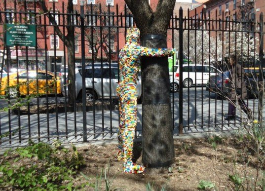 LEGO Tree Huggers Made of Recycled Bricks Pop Up in New York City