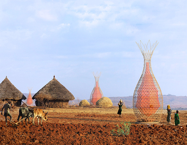 Brilliant WarkaWater Towers Collect Drinking Water from Thin Air in Ethiopia