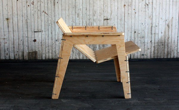 Object Guerrilla S Flat Pack Lounge Chair Can Be Assembled