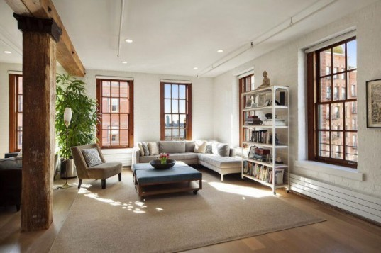 125 Watts Street, eco-friendly loft-eco-friendly apartment, energy-efficient heating, natural light, energy-efficient cooling, Caesarstone Quartz, pre-war building, Town Real Estate, Danny Davis, apartment, new york, real estate, eco-friendly design, loft, living space Viking, Liebher, Miele