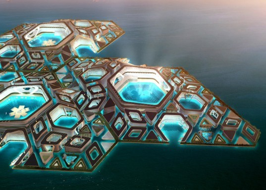 green design, eco design, sustainable design, Floating City, prefab island, AT Design Office, CCCC, underwater cities