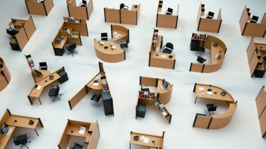 Benoit Challand S Fold Yard Transforms Office Furniture Into A