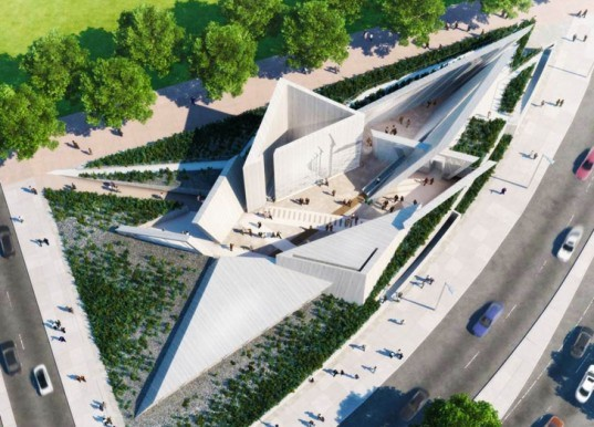 Daniel Libeskind holocaust memorial, Daniel Libeskind Canada, Canadian National Holocaust Monument, holocaust memorials, memorials architecture, Ottawa architecture, Canadian War Museum, holocaust museum, Canada architecture, architecture competition, triangular architecture, starchitects