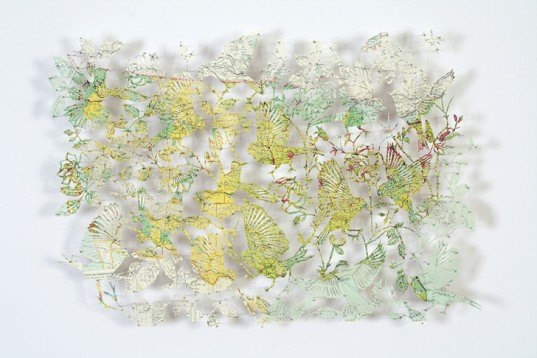 green design, eco design, sustainable design, paper art, laser cut art, Claire Brewster, recycled maps
