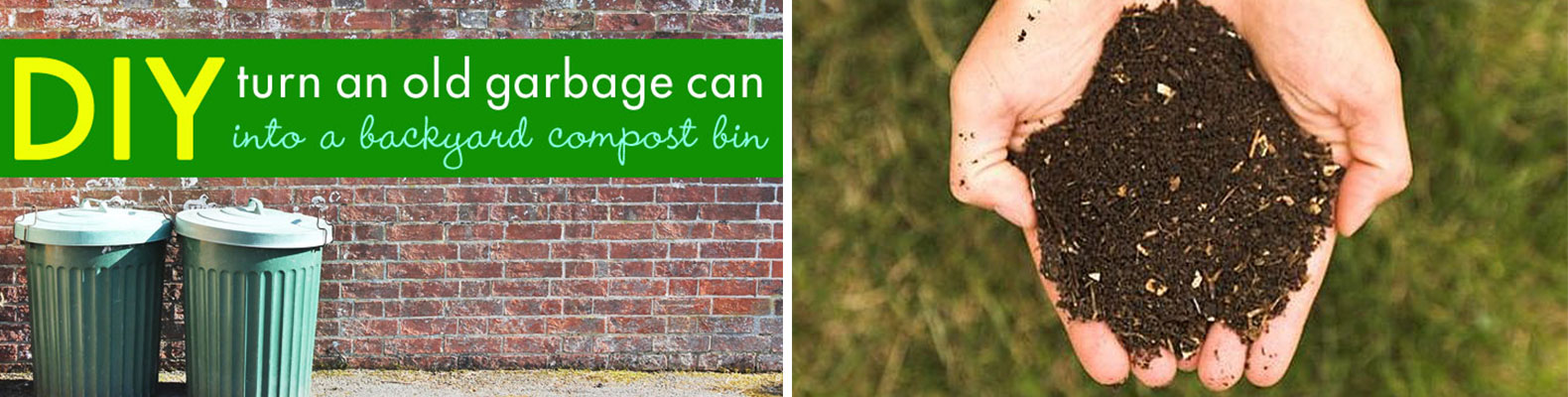 DIY: Backyard composter from a garbage can + what can be tossed into it