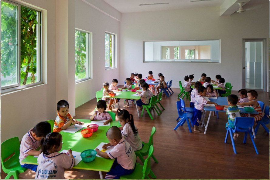 farm school, vietnamese farm school, farm school in vietnam, farm kindergartening, farmig school, farming kindergarten, vietnamese farm school, Vo Trong Nghia Architects
