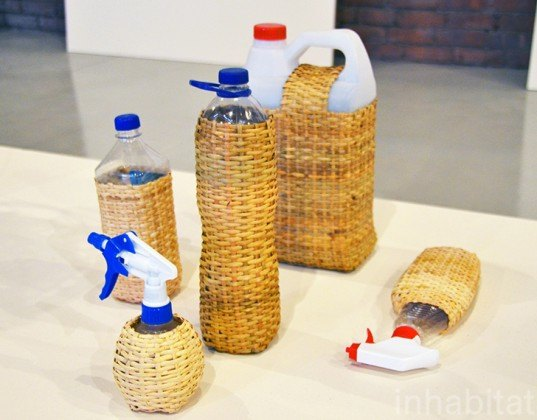 Rattan Bottles, Field Experiments, sight unseen, sight unseen offsite, green design, sustainable design, new york design week, nydw, nycXdesign, green furniture, green interiors, sustainable furniture, eco furniture, eco products, green lighting, energy-efficient lighting, recycled materials, sustainable materials, innovative design