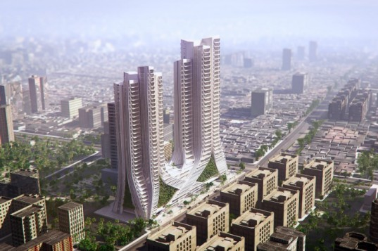 Grove Towers, 3XN, mumbai, green tower, eco tower, ornate spaces, vertical garden