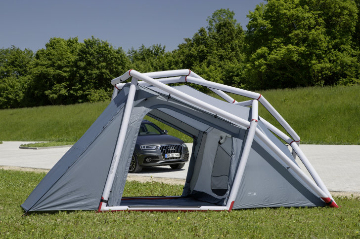 Displaying ad for 5 seconds & Hemiplanetu0027s New Inflatable Tent Turns the Audi Q3 Into a Camper ...