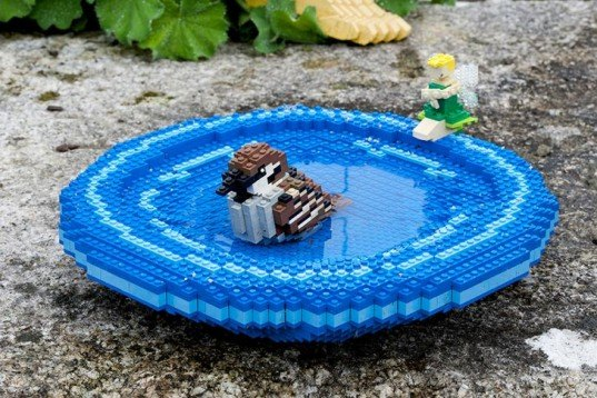 LEGO Wildlife Garden, LEGO Windsor, wildlife habitats, LEGO sparrow, LEGO frog, LEGO hedgehog