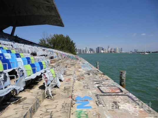 green design, eco design, sustainable design, Miami Marine Stadium, Friends of the miami marine stadium, graffiti, Logan Hicks, waterfront park Miami, passive design, Hilario Candela, adaptive reuse