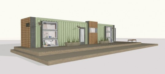 green design, eco design, sustainable design, cargotecture, recycled shipping container, Michigan Urban Farming Initiative, TAKD Design, Integrity Building Group, shipping container homestead, General Motors