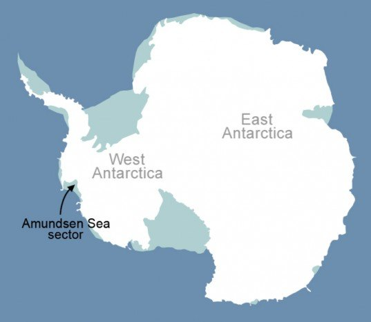 Antarctica, global warming, land ice, NASA, University of California Irvine, rising sea level, Antarctic ice shelf, Amundsen Sea Embayment,  Eric Rignot, polar caps, polar melting