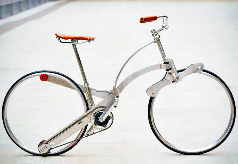 Hubless Sada Bike Can Be Folded to the Size of an Umbrella