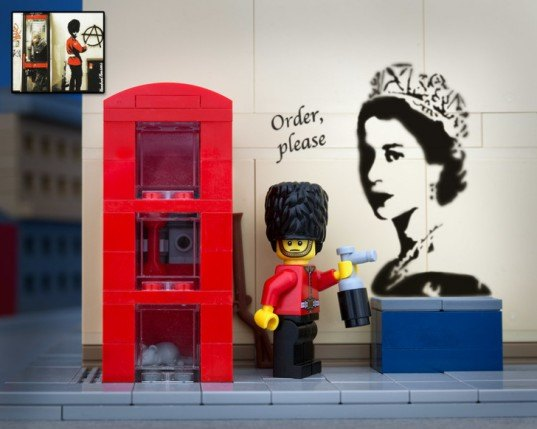 Jeff Friesen, Bricksy, LEGO, Banksy, photography, graffiti, street art, The Brick Fantastic, gallery, Banksy artworks made from LEGO, Banksy LEGO art, art