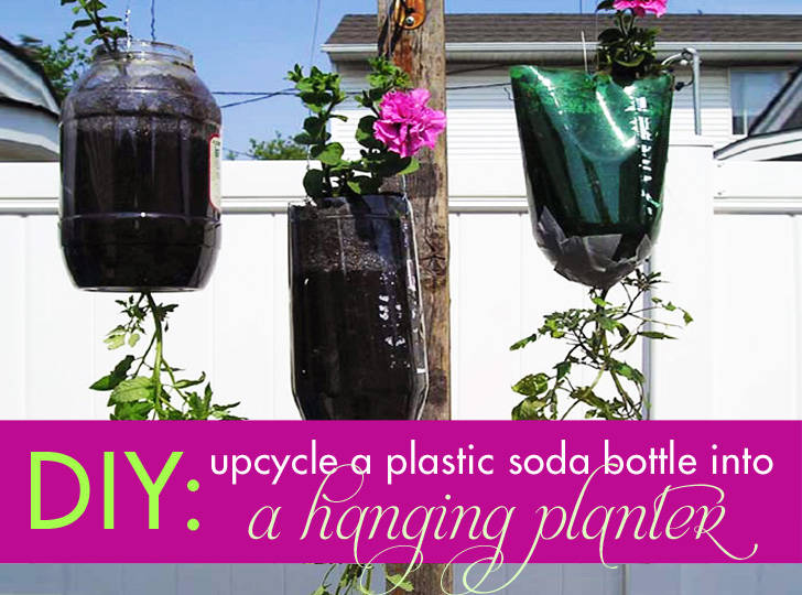 How To Make A Hanging Planter With A Recycled Plastic