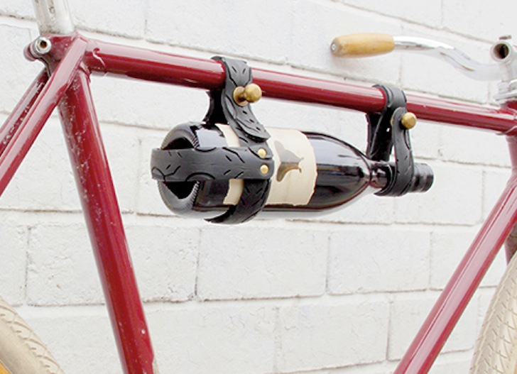 Oopsmark Upcycles Old Tires Into Classy Bicycle Wine Rack For