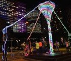 "Ray: Interactive ""Talking"" Solar-Powered Sculpture Kicks Up a Colorful Whirlwind at Vivid Sydney"