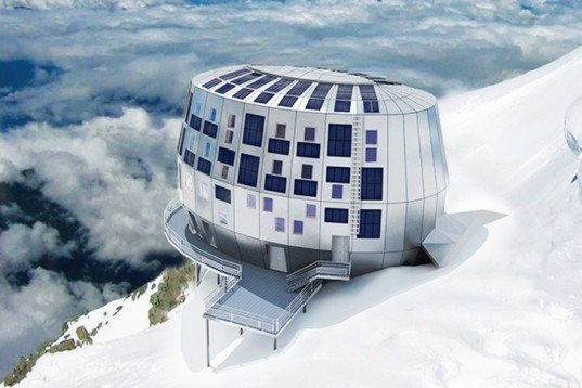 Off-Grid Living, Sigge Architects, Spaced architecture, Refuge du Goûter, Group-H, Alpine Capsule, Ross Lovegrove, Chamfer House, S-Archetype, Stamp House, Charles Wright Architects, MercuryHouseOne, Architecture and Vision, mountain retreat, solar power, wind power, architecture