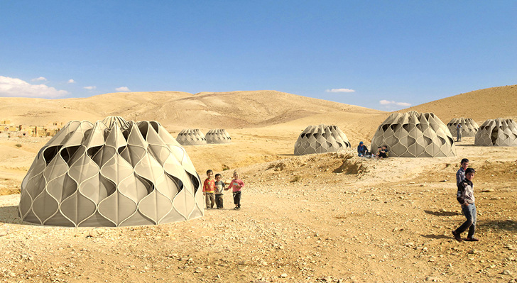 Architecture & Beautiful Woven Refugee Tents Get Their Power from the Sun ...