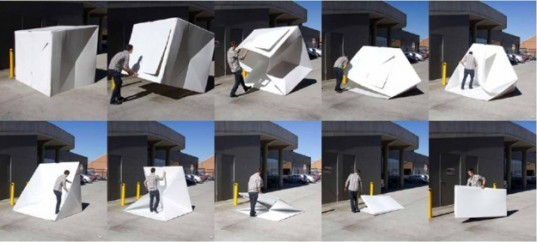 Alastair Pryoru0027s Compact Shelters pop up emergency tents disaster design emergency design & 35 Pound Foldable Compact Shelter Provides Lightweight Disaster ...
