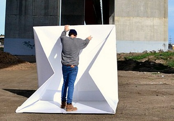 35 Pound Foldable Compact Shelter Provides Lightweight Disaster Housing in Under Two Minutes | Inhabitat - Green Design Innovation Architecture ... & 35 Pound Foldable Compact Shelter Provides Lightweight Disaster ...