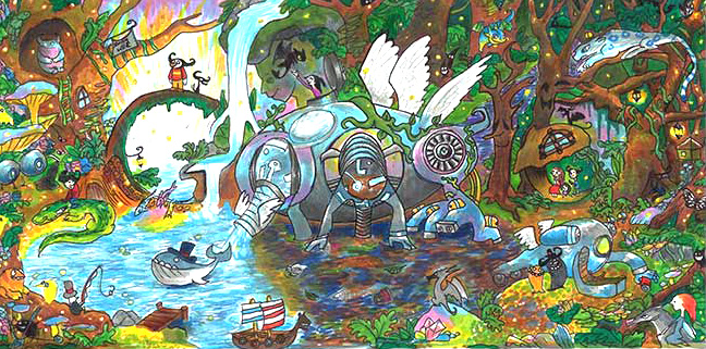 11 Year Old S Fantastical Water Purifying Machine Wins 2014 Doodle 4