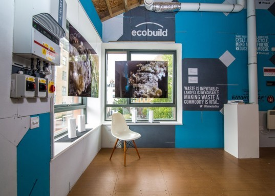 Waste house, carbon negative building, carbon negative, bbm, sustainable design, eco house, brighton waste house, university of brighton, trash house, house made out of trash, Duncan baker-brown, waster materials, energy efficiency,