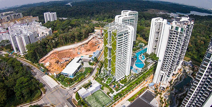 located in a quiet corner of singapores district 23 tree house is a 24 storey condo building that boasts the worlds largest vertical garden and features - Biggest Treehouse In The World 2013