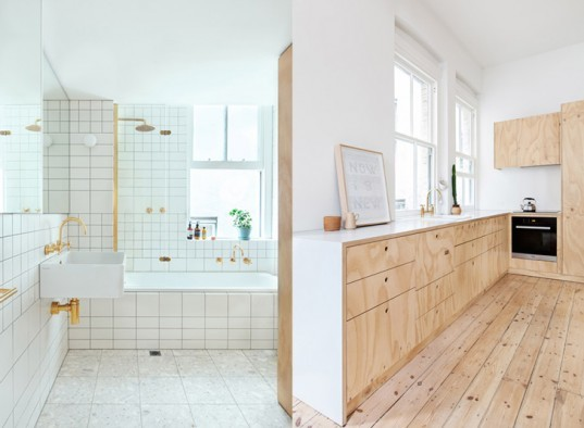 Clare Cousins Architects, Melbourne, Australia, small spaces, apartment, plywood, loft, wood, flexible, city living, sustainable, small