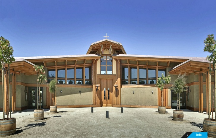 Northern california church boasts one of the largest rainwater architecture malvernweather Choice Image