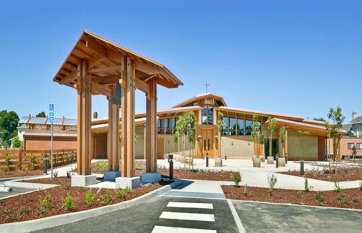 Northern california church boasts one of the largest rainwater form 4 architecture energy efficient church energy efficient church california san malvernweather Choice Image
