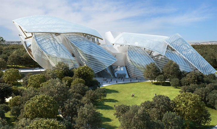 bdf796352 Frank Gehry's Scalloped Glass Louis Vuitton Foundation Center Nears  Completion in Paris