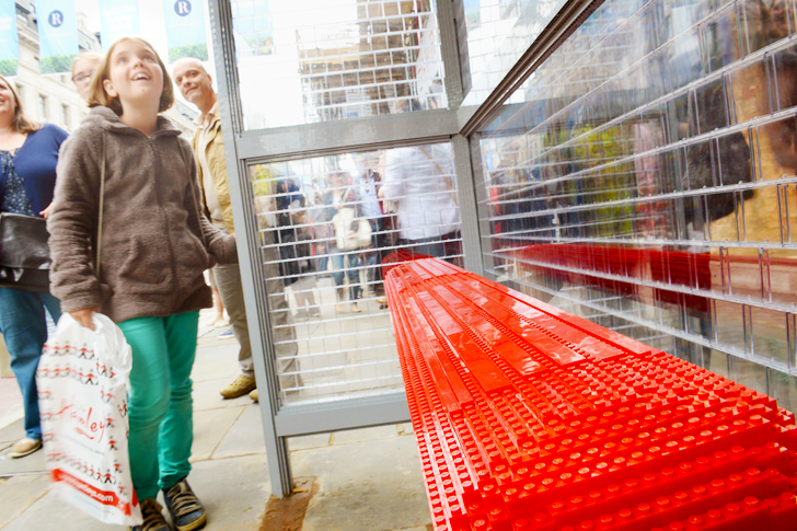 London Bus Stop Made from 100,000 Lego Bricks Pops Up on Regent Street