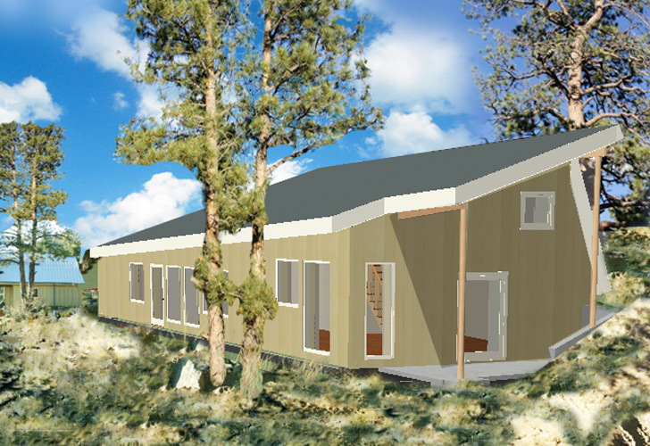 How to design a passive house off grid and without foam